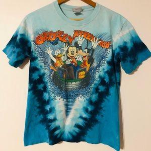 Mickey Mouse Donald Tie Dye Innertube T Shirt